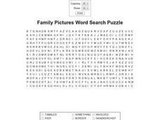 Family Pictures Worksheet