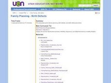 Family Planning - Birth Defects Lesson Plan