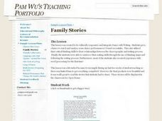 Family Stories Lesson Plan