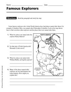 Printables Early Explorers Worksheets famous explorers 4th 5th grade worksheet lesson planet worksheet