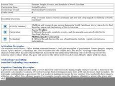 Famous People, Events, and Symbols of North Carolina Lesson Plan