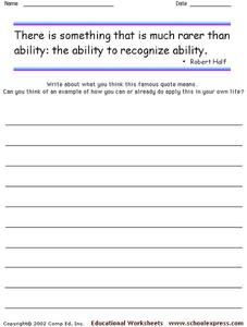 Famous Quotes 112 Worksheet