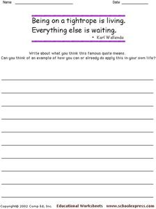 Famous Quotes 116 Worksheet