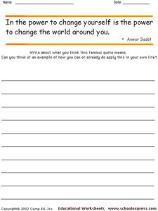 Famous Quotes 117 Worksheet