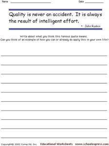 Famous Quotes 128 Worksheet