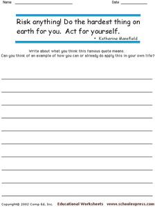 Famous Quotes 129 Worksheet