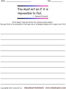 Famous Quotes 23 Worksheet