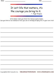 Famous Quotes 7 Worksheet