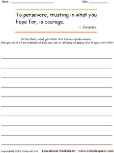 Famous Quotes 9 Worksheet