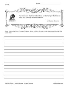 Famous Quotes Interpretation Worksheet