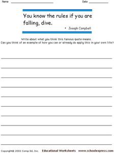 Famous Quotes - Joseph Campbell Worksheet