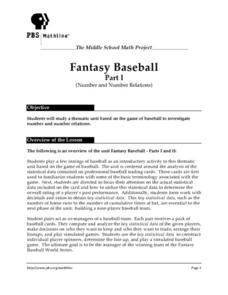 Fantasy Baseball Lesson Plan