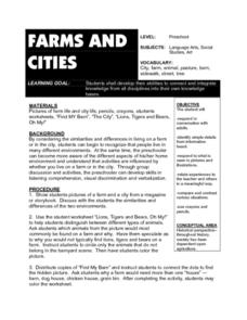 Farms And Cities Lesson Plan