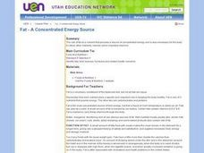 Fat - A Concentrated Energy Source Lesson Plan