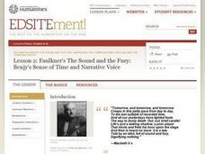 Faulkner's The Sound and the Fury: Benjy's Sense of Time and Narrative Voice Lesson Plan