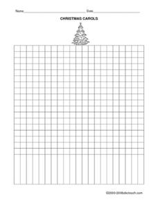 Favorite Christmas Carols Graph Worksheet