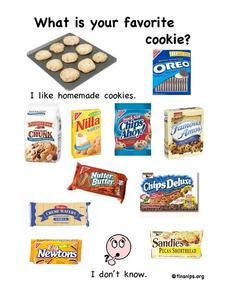 Favorite Cookie Worksheet