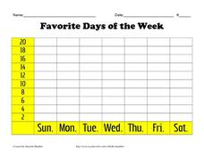 Favorite Days of the Week Lesson Plan