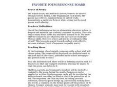 Favorite Poem Response Board Lesson Plan