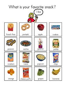 Favorite Snack Worksheet