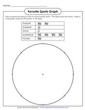 Favorite Sports Graph Worksheet
