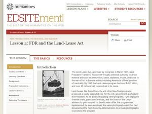 FDR and the Lend-Lease Act Lesson Plan