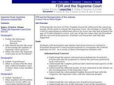 FDR and the Reorganization of the Judiciary Lesson Plan