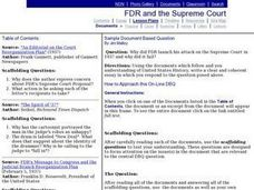 FDR and the Supreme Court Lesson Plan