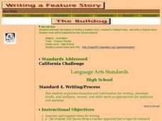 Feature Stories Lesson Plan