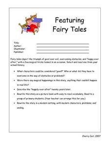 Featuring Fairy Tales Worksheet