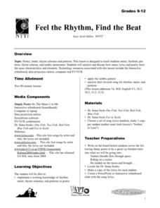 Feel the Rhythm, Find the Beat Lesson Plan