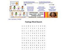 Feelings Word Search Worksheet
