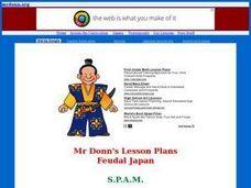 Feudal Japan: S.P.A.M. (Samurai, Peasants, Artisans, Merchants) Lesson Plan