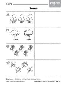 Fewer: Enrichment Worksheet