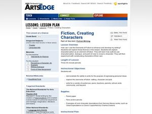 Fiction, Creating Characters Worksheet