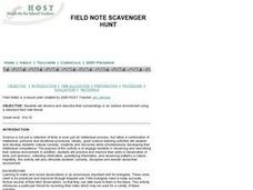 FIELD NOTE SCAVENGER HUNT Lesson Plan