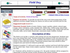 Field of Fun Day Lesson Plan