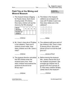 Field Trip at the Mining and Mineral Museum Worksheet