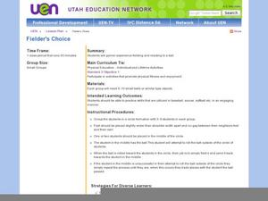 Fielder's Choice Lesson Plan
