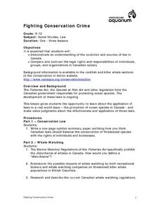 Fighting Conservation Crime Lesson Plan