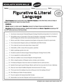 and literal language in this figurative and literal language worksheet ...