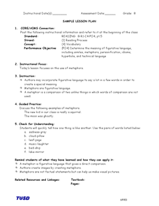 Figurative Language: Metaphors Lesson Plan