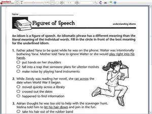 Printables Figures Of Speech Worksheet printables figures of speech worksheet safarmediapps worksheets understanding idioms 5th 6th grade worksheet