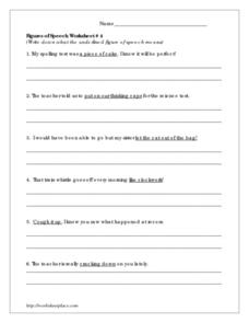 Printables Figures Of Speech Worksheet figures of speech worksheet 4 3rd 4th grade lesson worksheet