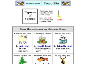 Figures of Speech Worksheet