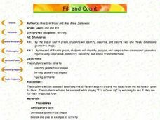 Fill and Count Two and Three Dimensional Shapes Lesson Plan