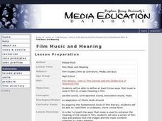 Film Music and Meaning Lesson Plan