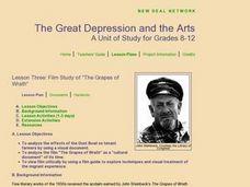 Film Study Of The Grapes Of Wrath Lesson Plan