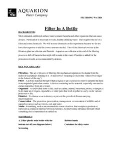 Filter in a Bottle Lesson Plan