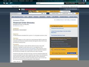 Financial Crisis Glossary Lesson Plan